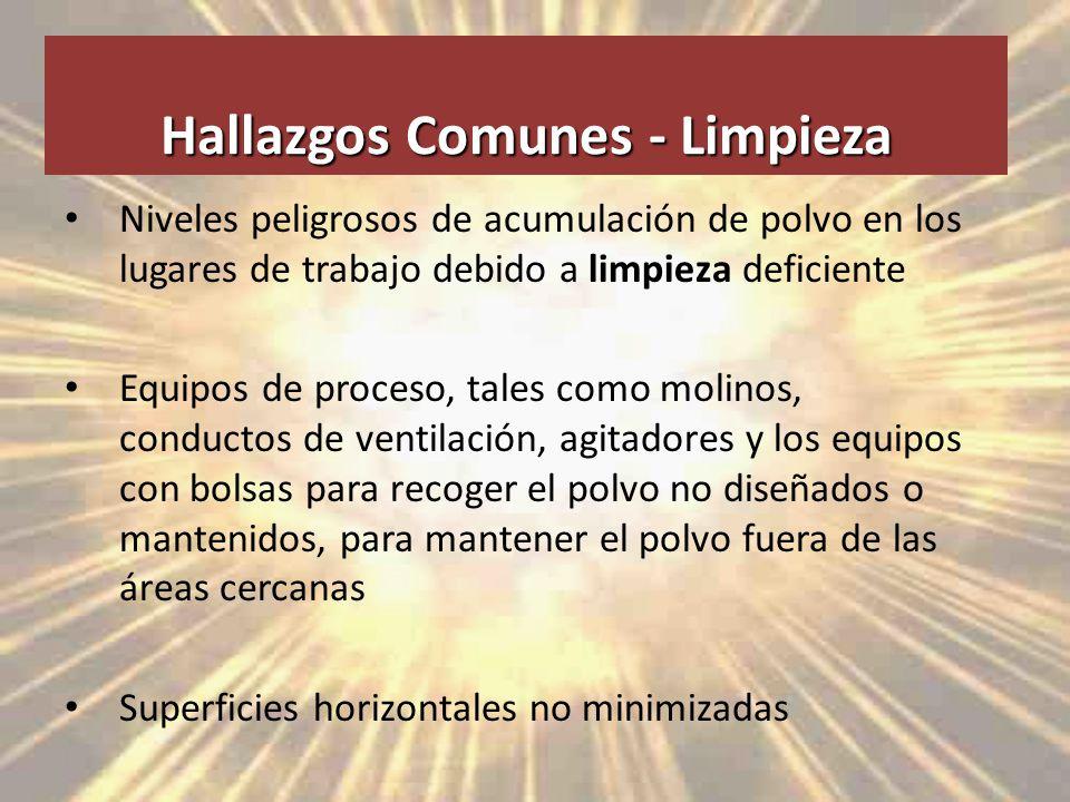 Hallazgos Comunes - Limpieza