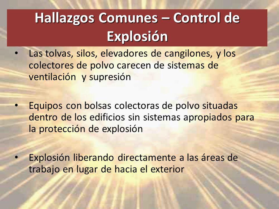 Hallazgos Comunes – Control de Explosión
