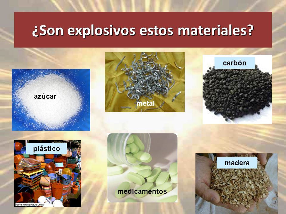 ¿Son explosivos estos materiales