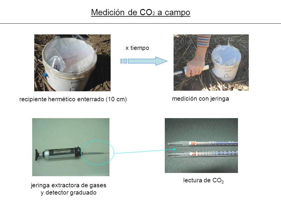 jeringa extractora de gases y detector graduado