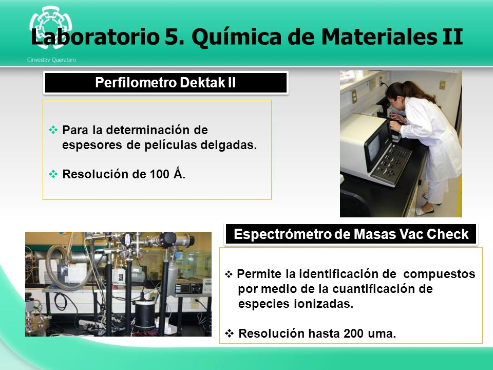 Laboratorio 5. Química de Materiales II
