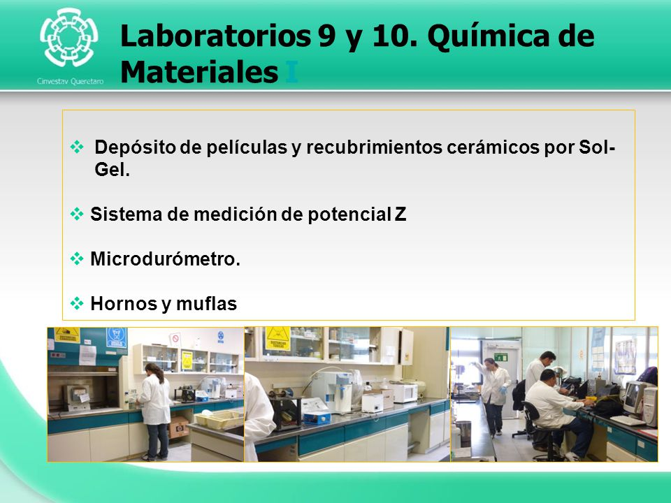 Laboratorios 9 y 10. Química de Materiales I