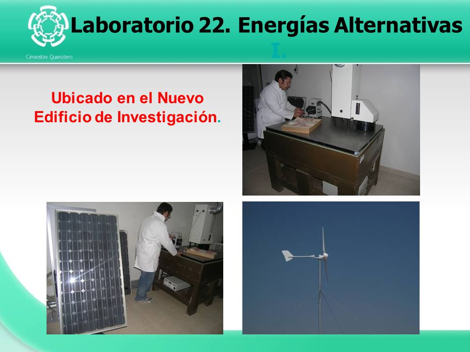 Laboratorio 22. Energías Alternativas I.