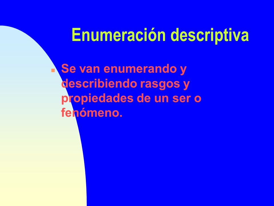 Enumeración descriptiva temporal