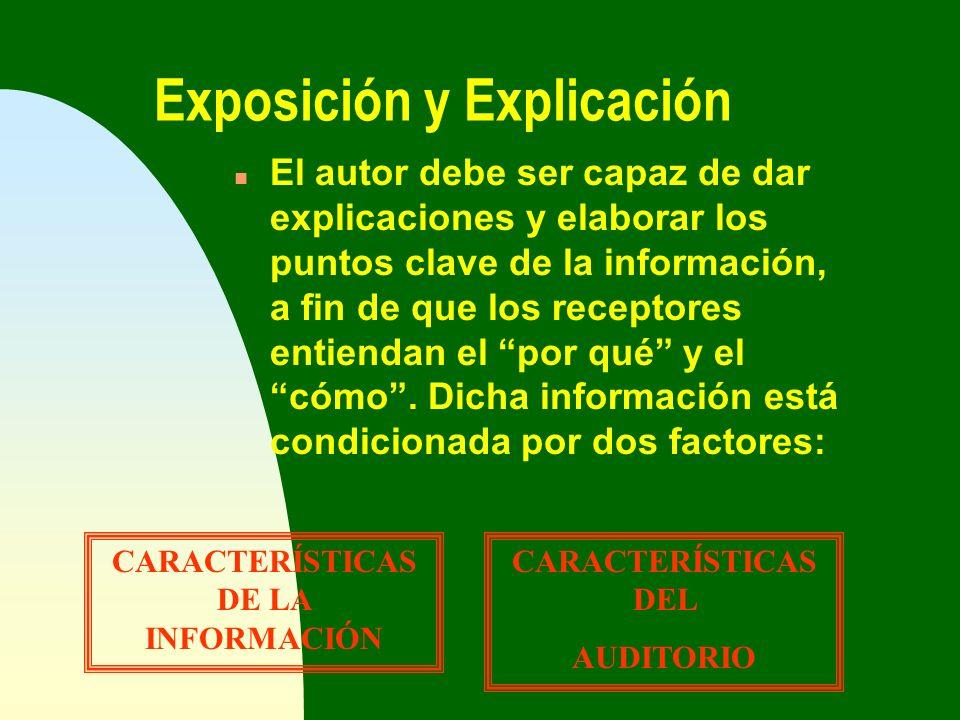 Exposición y Explicación