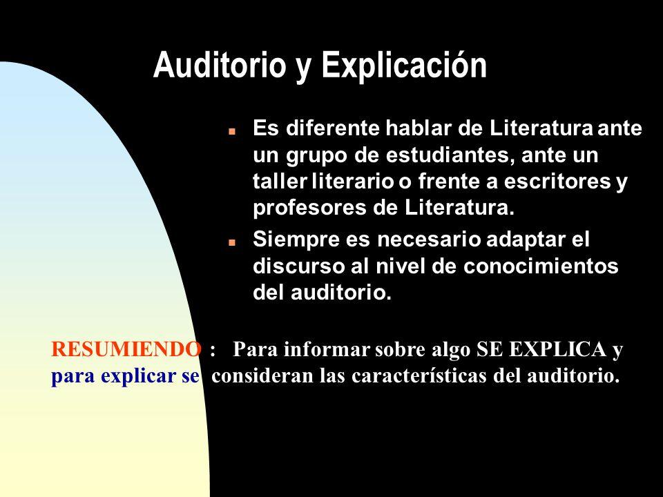 Auditorio y Explicación