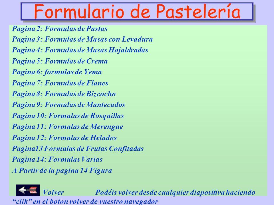 Formulario de Pastelería