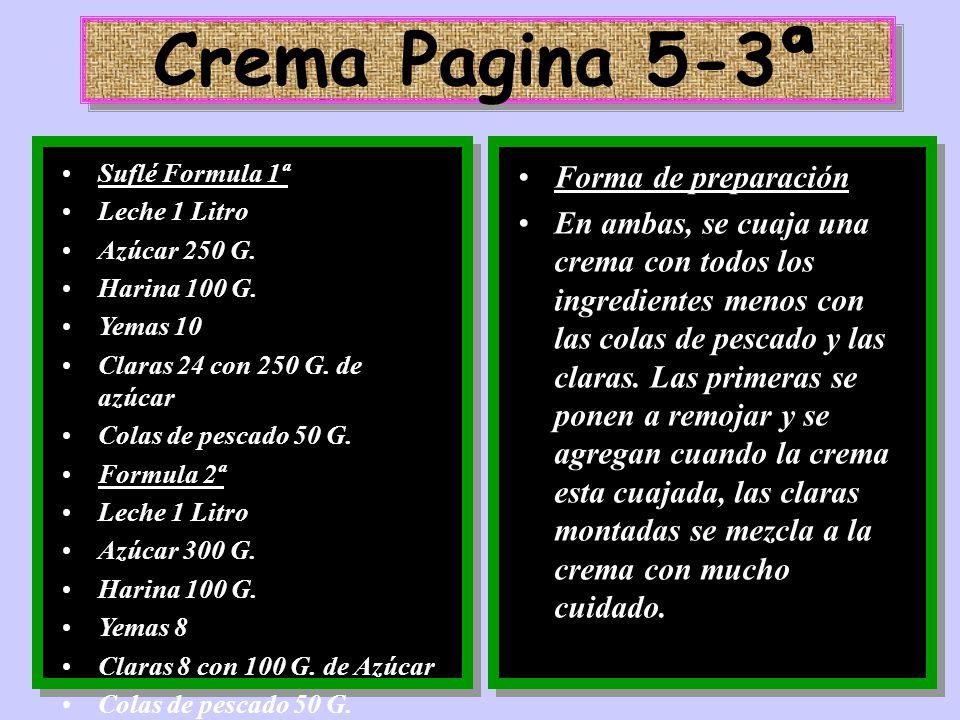 Crema Pagina 5-3ª Forma de preparación