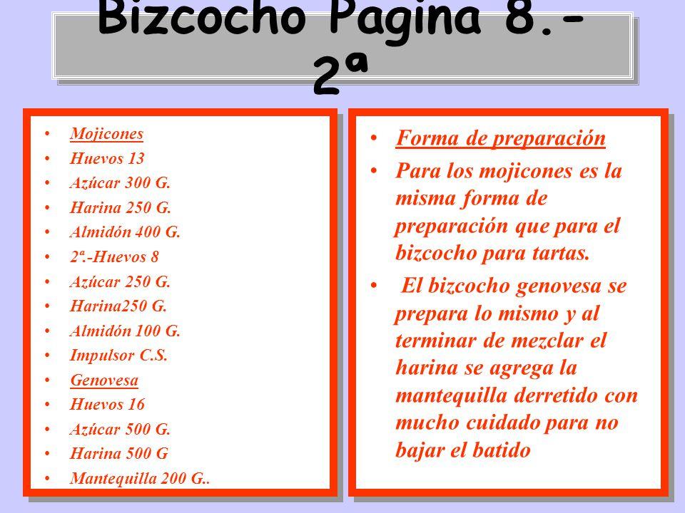 Bizcocho Pagina 8.-2ª Forma de preparación