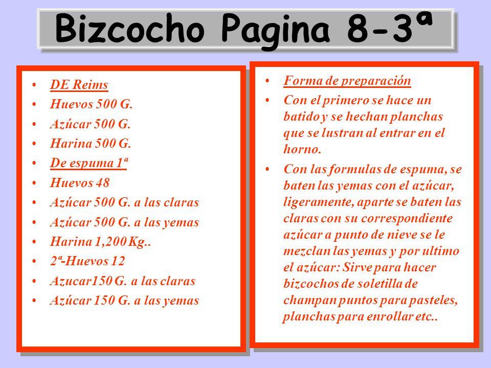 Bizcocho Pagina 8-3ª Forma de preparación DE Reims