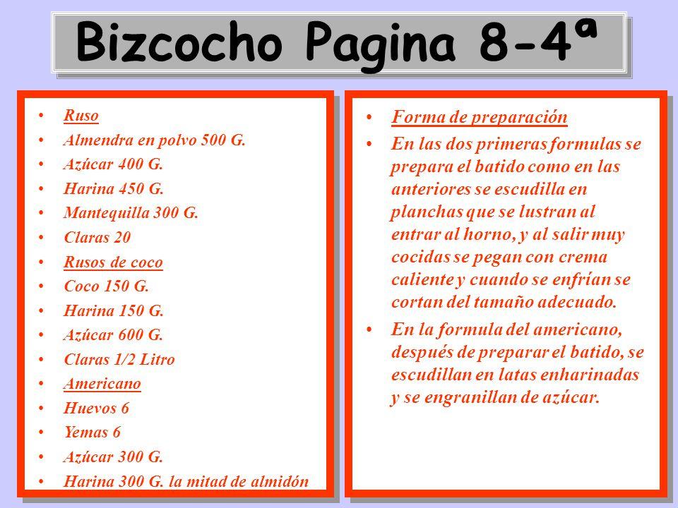 Bizcocho Pagina 8-4ª Forma de preparación