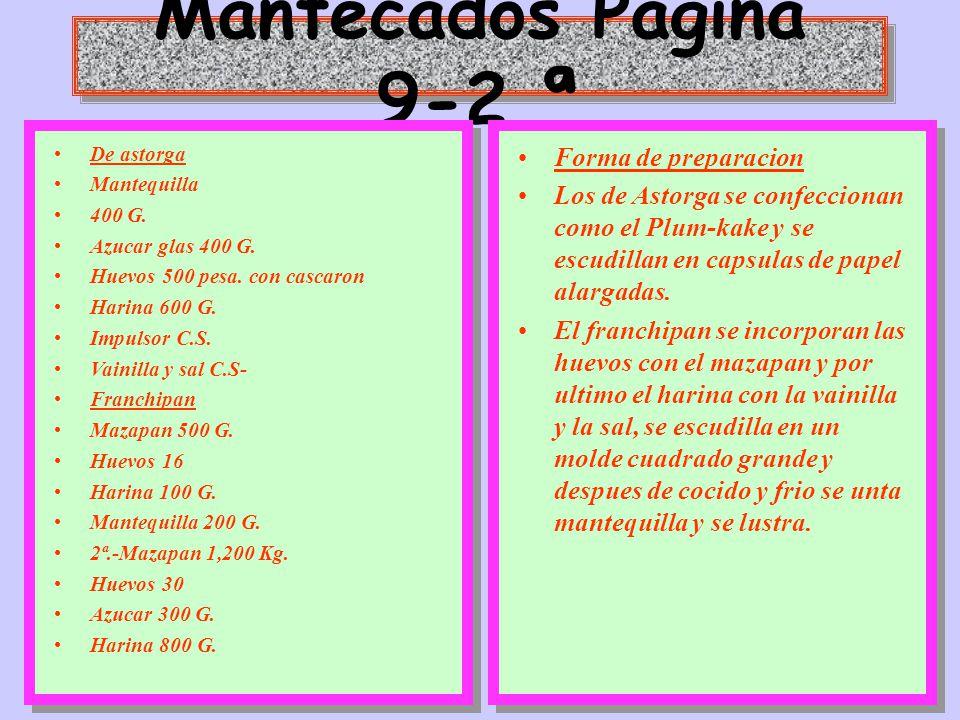 Mantecados Pagina 9-2 ª Forma de preparacion