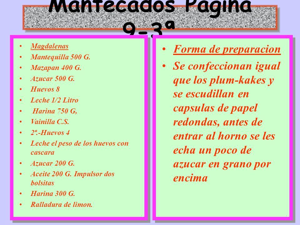 Mantecados Pagina 9-3ª Forma de preparacion