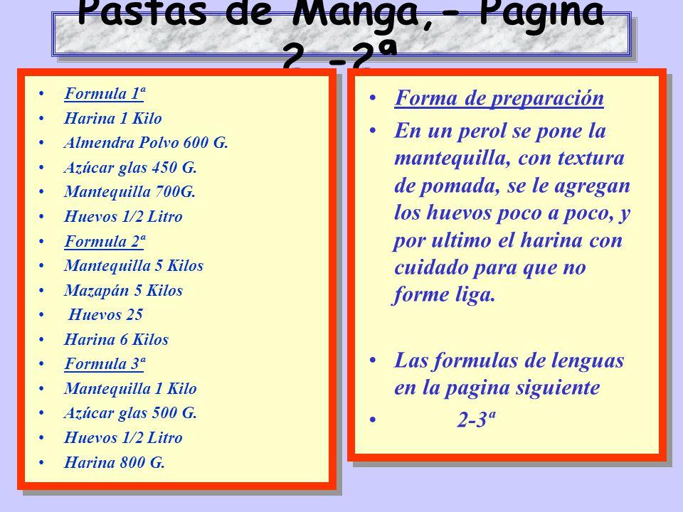 Pastas de Manga,- Pagina 2.-2ª