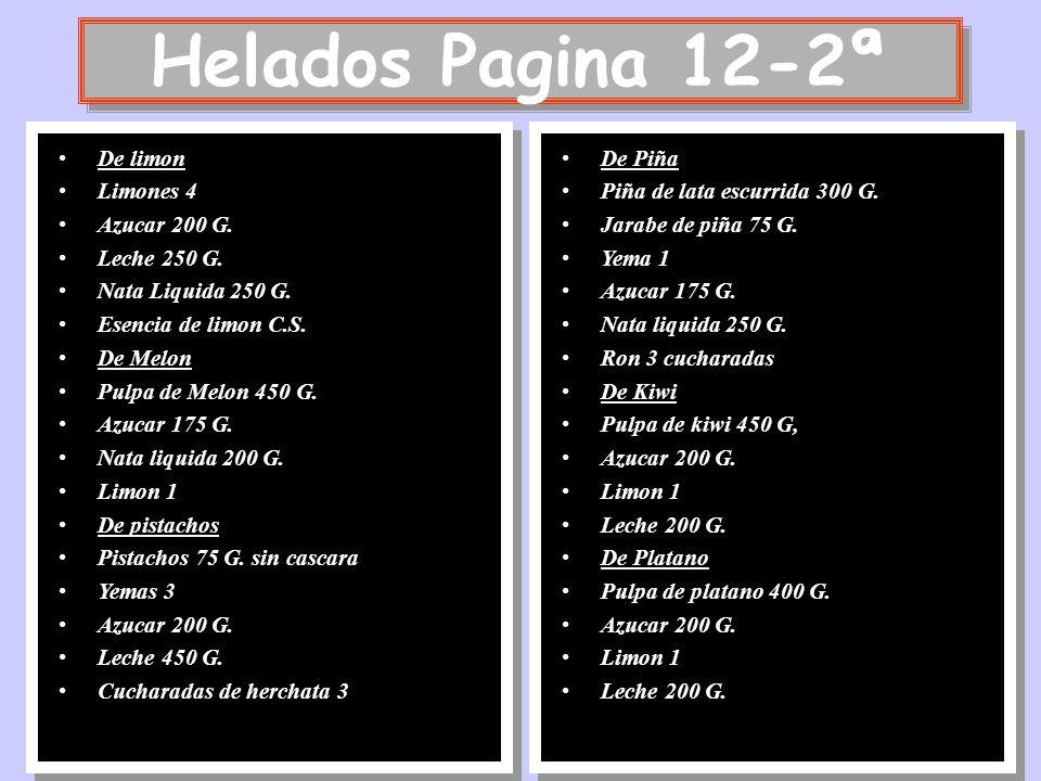 Helados Pagina 12-2ª De limon Limones 4 Azucar 200 G. Leche 250 G.