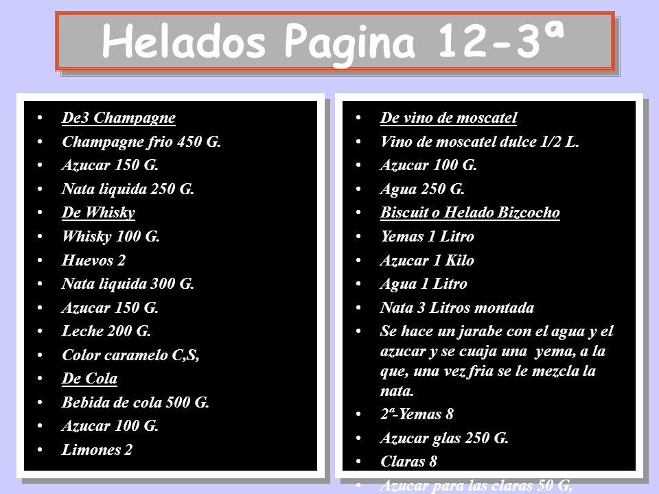 Helados Pagina 12-3ª De3 Champagne Champagne frio 450 G. Azucar 150 G.