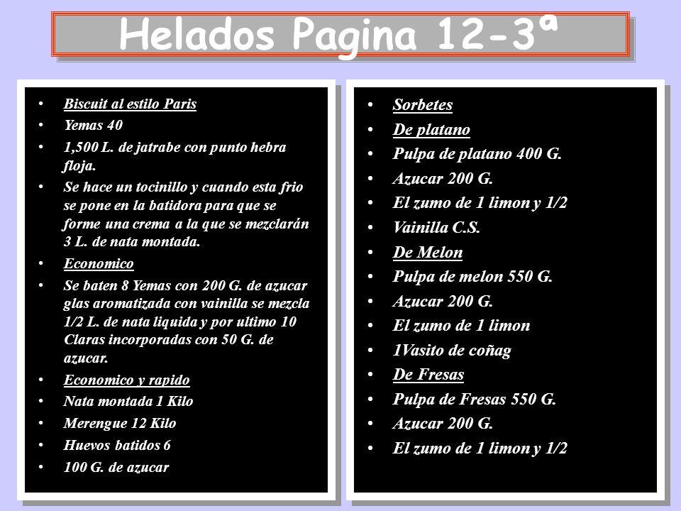 Helados Pagina 12-3ª Sorbetes De platano Pulpa de platano 400 G.
