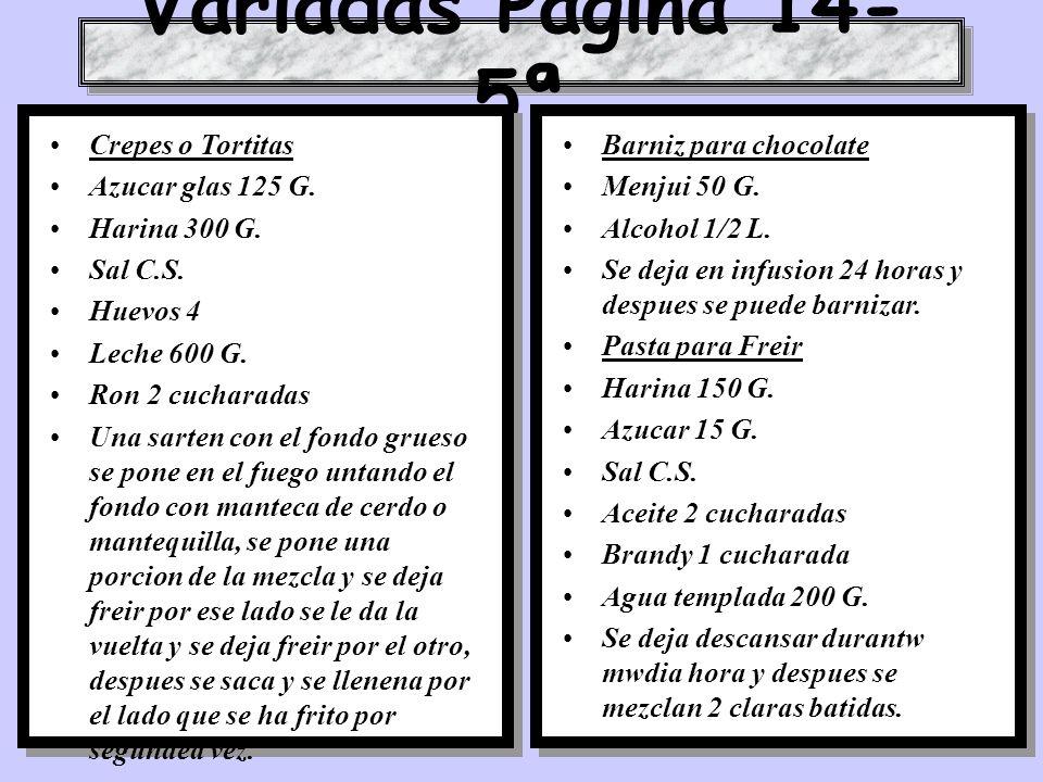 Variadas Pagina 14-5ª Crepes o Tortitas Azucar glas 125 G.