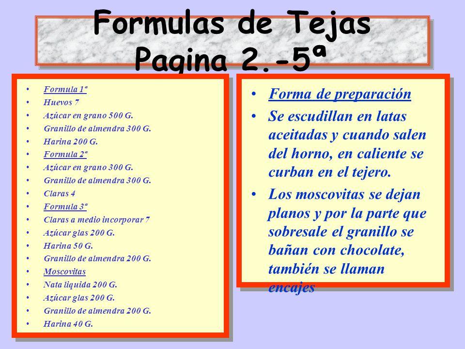 Formulas de Tejas Pagina 2.-5ª