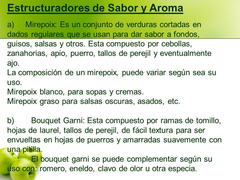 Estructuradores de Sabor y Aroma