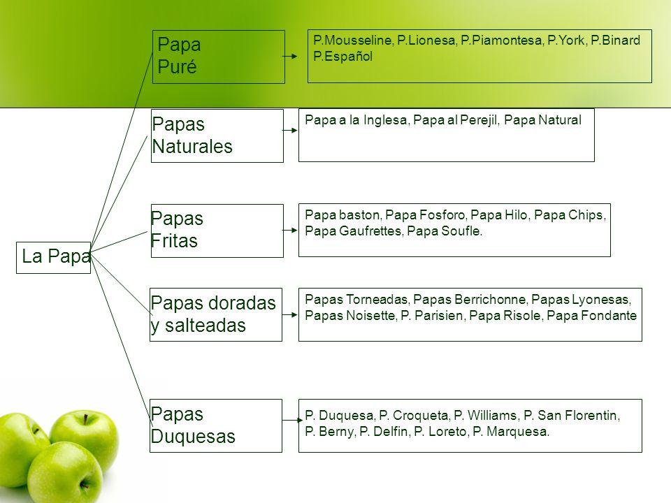 Papa Puré Papas Naturales Papas Fritas La Papa Papas doradas