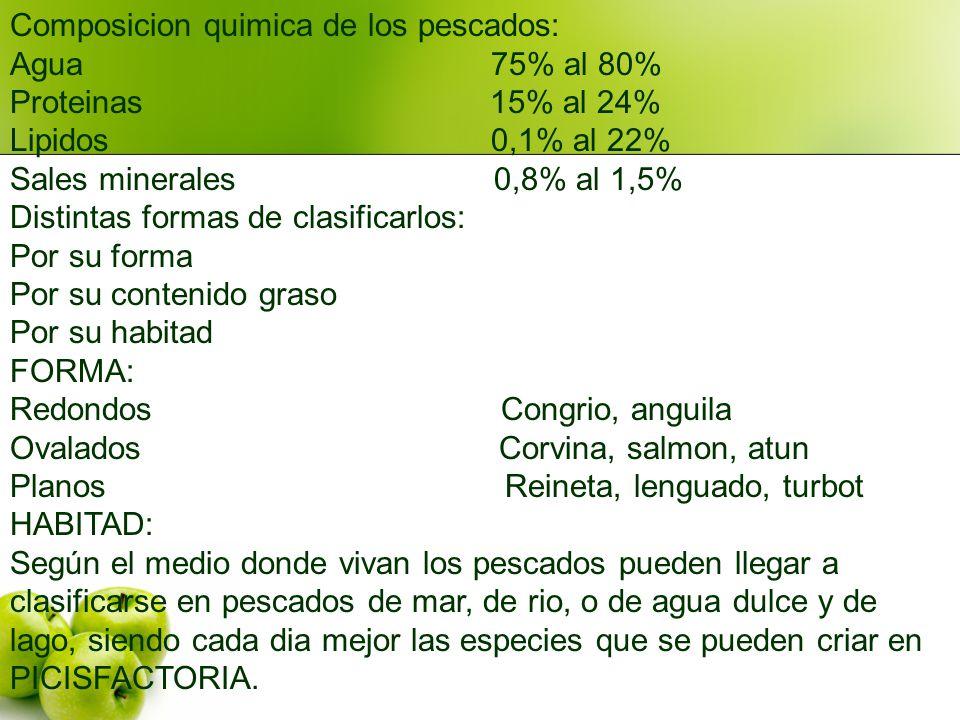 Composicion quimica de los pescados: