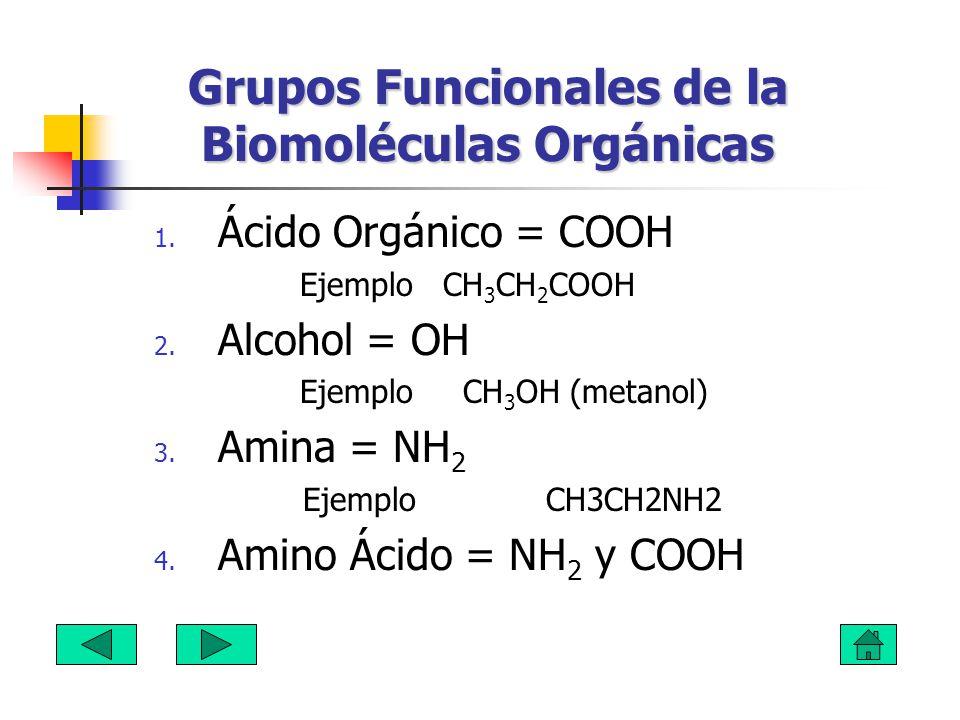 Grupos Funcionales de la Biomoléculas Orgánicas