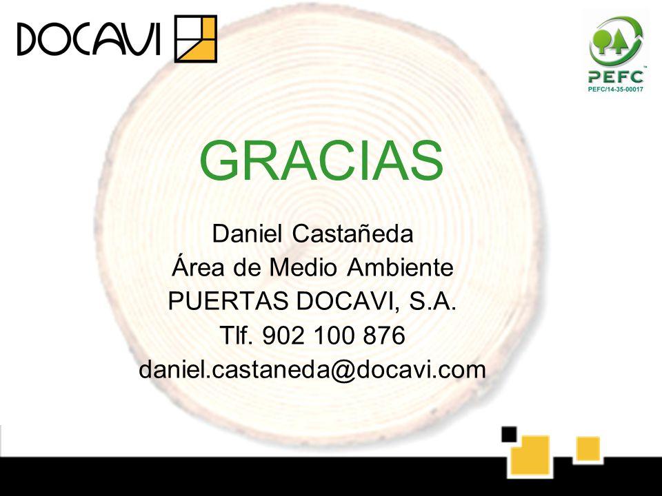 GRACIAS Daniel Castañeda Área de Medio Ambiente PUERTAS DOCAVI, S.A.