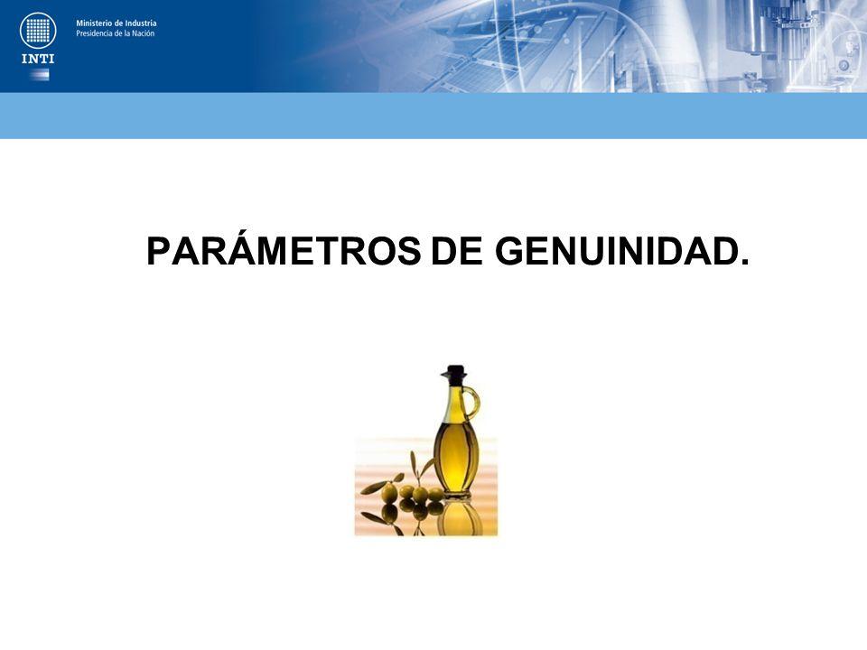 PARÁMETROS DE GENUINIDAD.