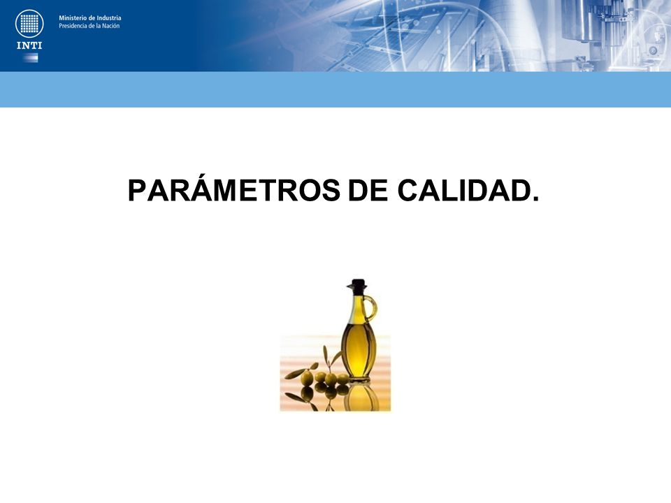 PARÁMETROS DE CALIDAD.