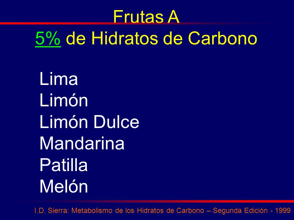 5% de Hidratos de Carbono