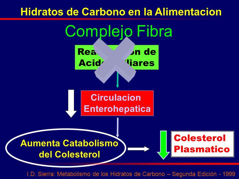 Complejo Fibra Hidratos de Carbono en la Alimentacion Reabsorcion de