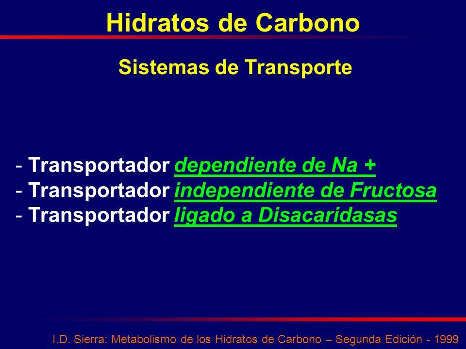 Hidratos de Carbono Sistemas de Transporte