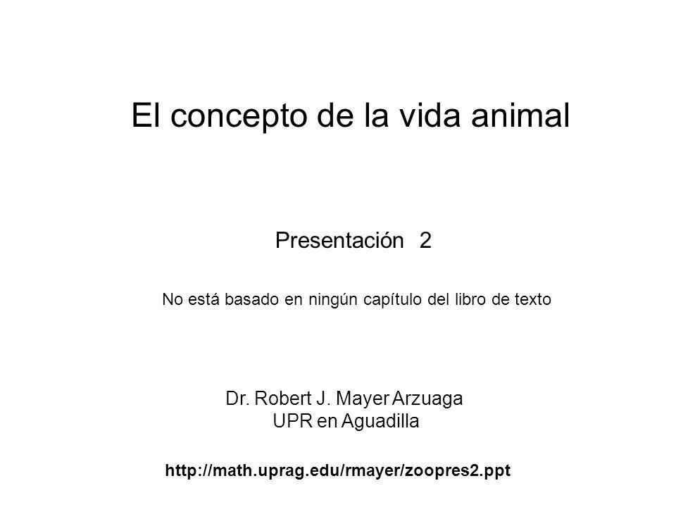El concepto de la vida animal