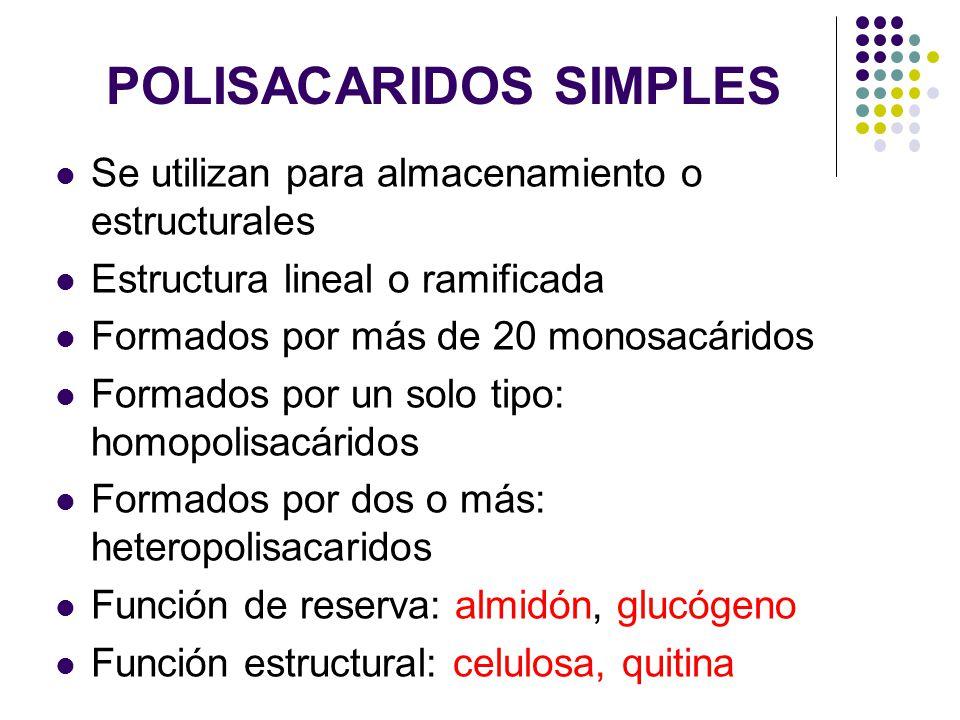 POLISACARIDOS SIMPLES