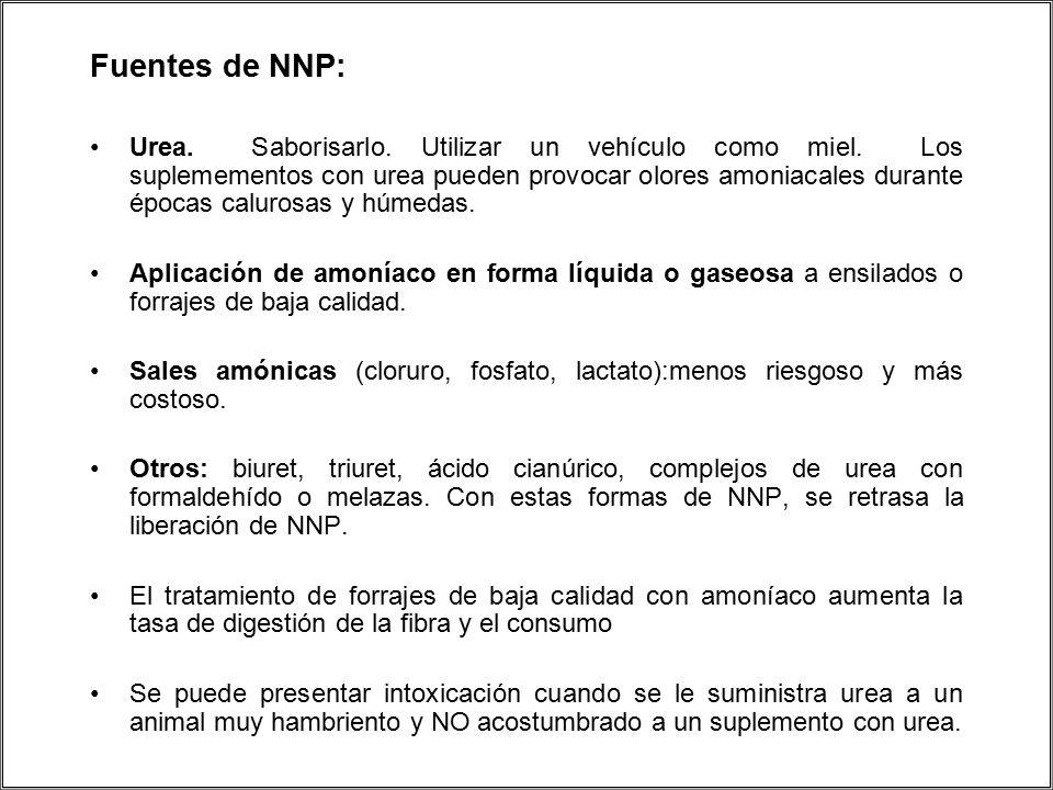 Fuentes de NNP: