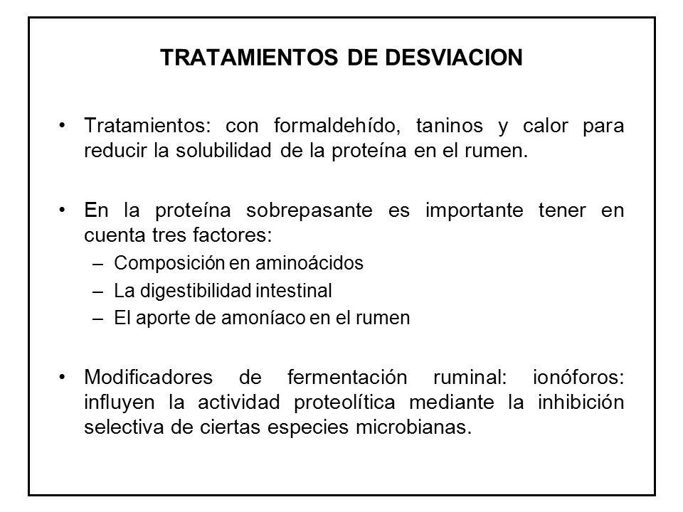 TRATAMIENTOS DE DESVIACION