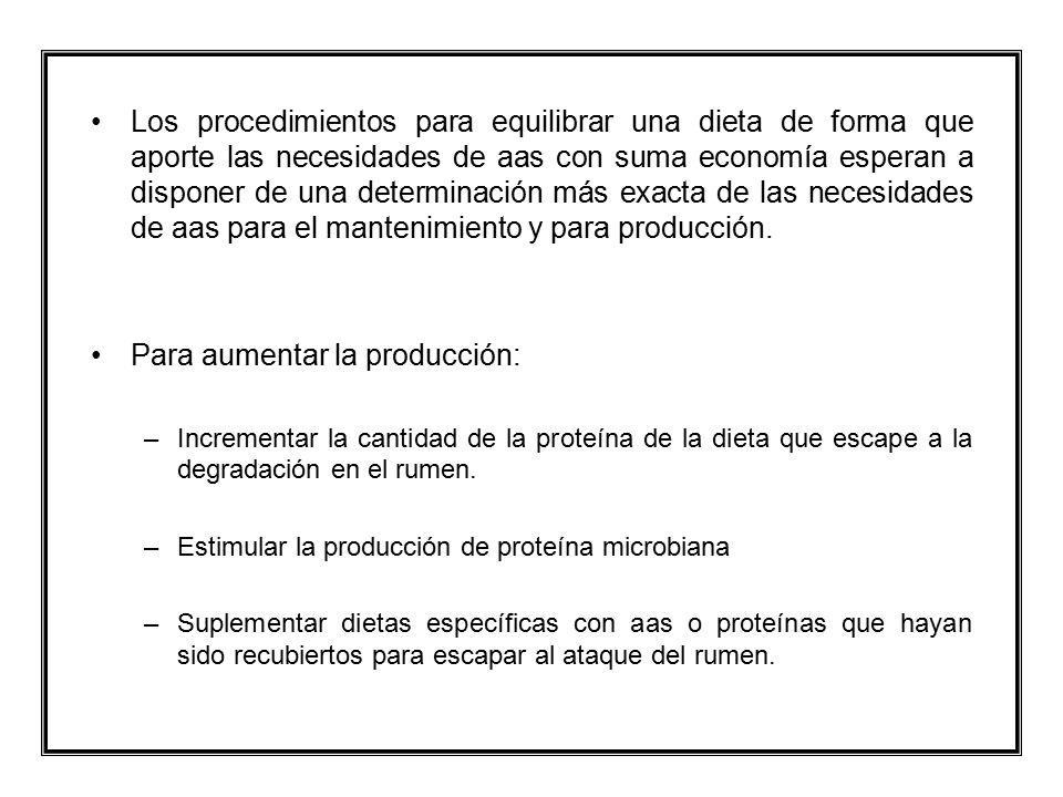 Para aumentar la producción: