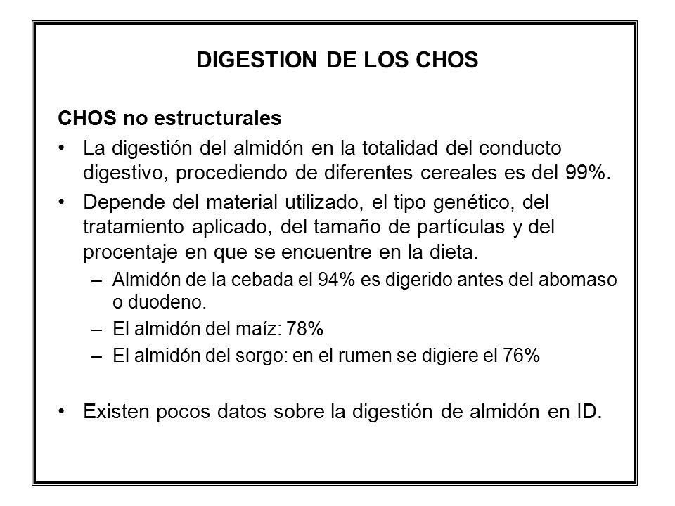 DIGESTION DE LOS CHOS CHOS no estructurales