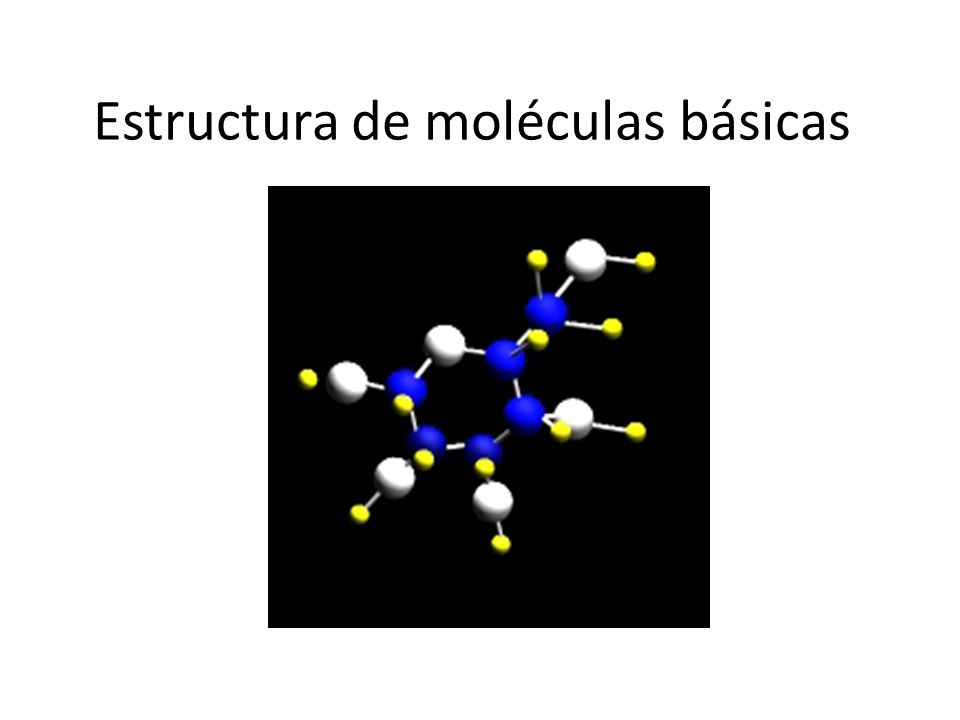 Estructura de moléculas básicas