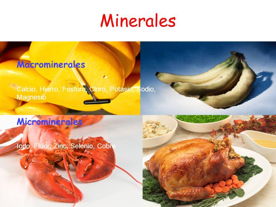 Minerales Macrominerales Microminerales