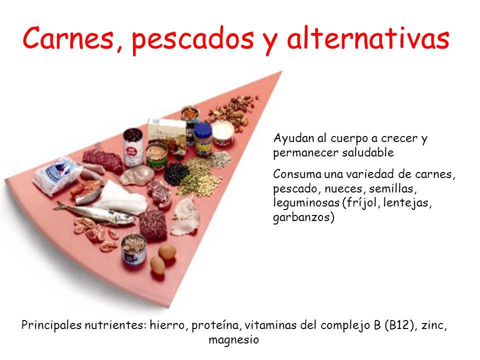 Carnes, pescados y alternativas