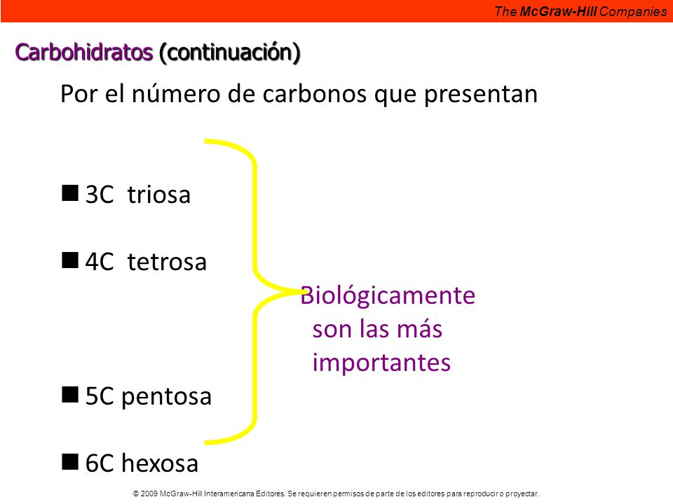 Por el número de carbonos que presentan