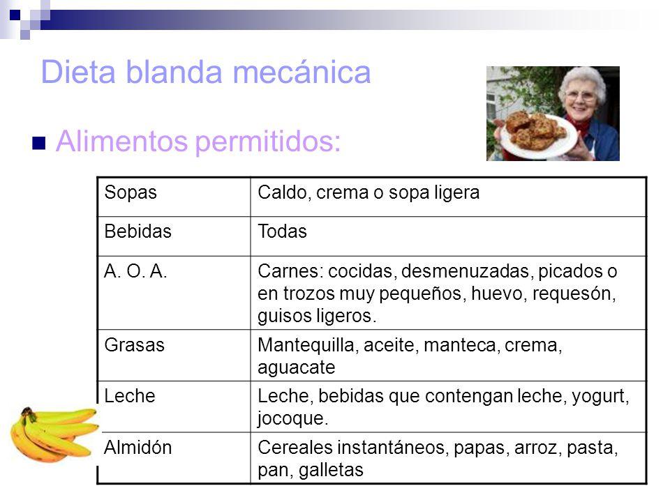 Tipos de dietas ppt video online descargar - Alimentos de una dieta blanda ...