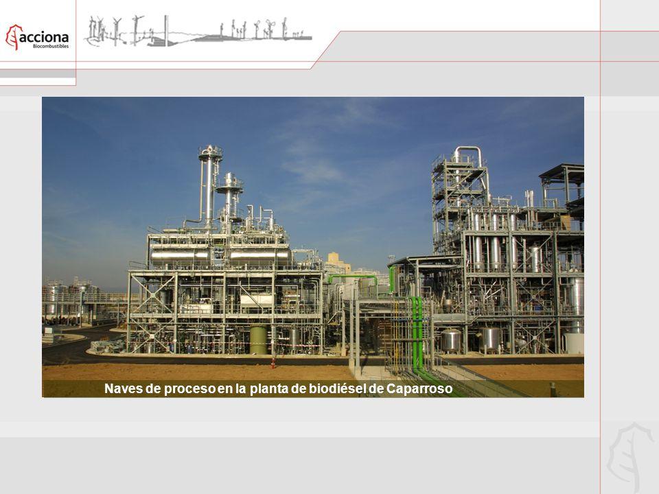 Naves de proceso en la planta de biodiésel de Caparroso