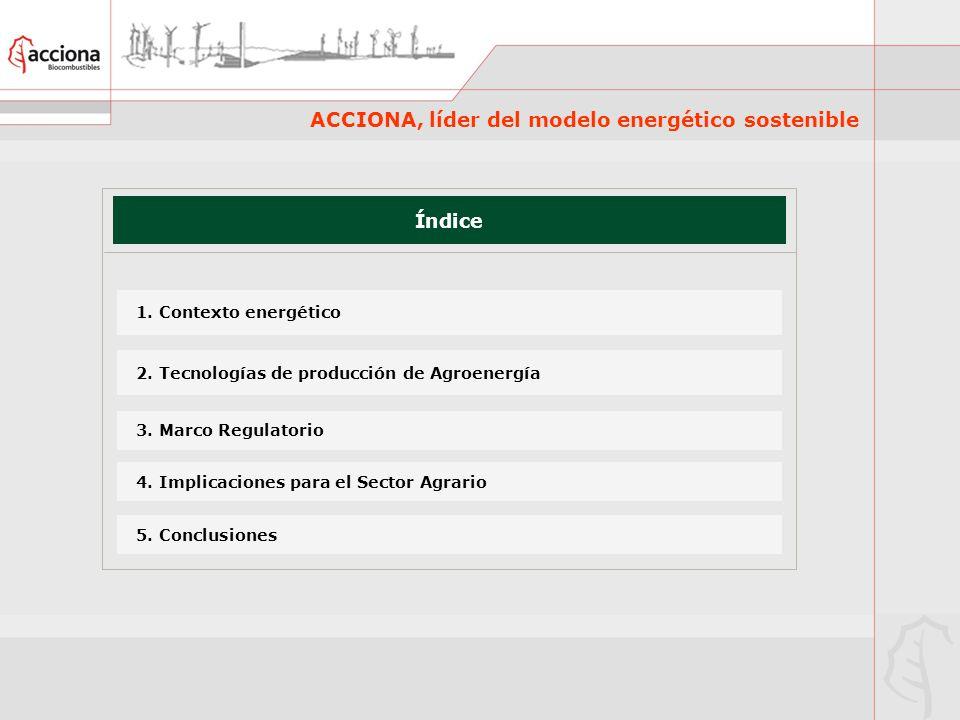 ACCIONA, líder del modelo energético sostenible