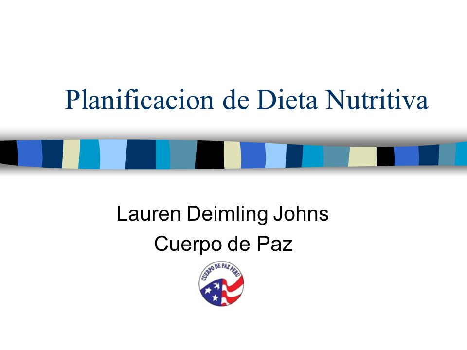 Planificacion de Dieta Nutritiva