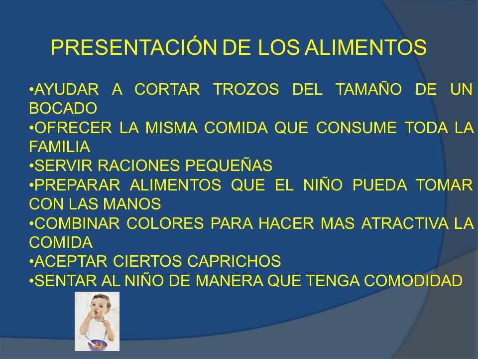 PRESENTACIÓN DE LOS ALIMENTOS