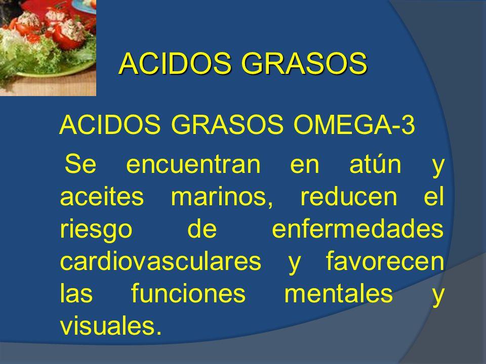 ACIDOS GRASOS ACIDOS GRASOS OMEGA-3.