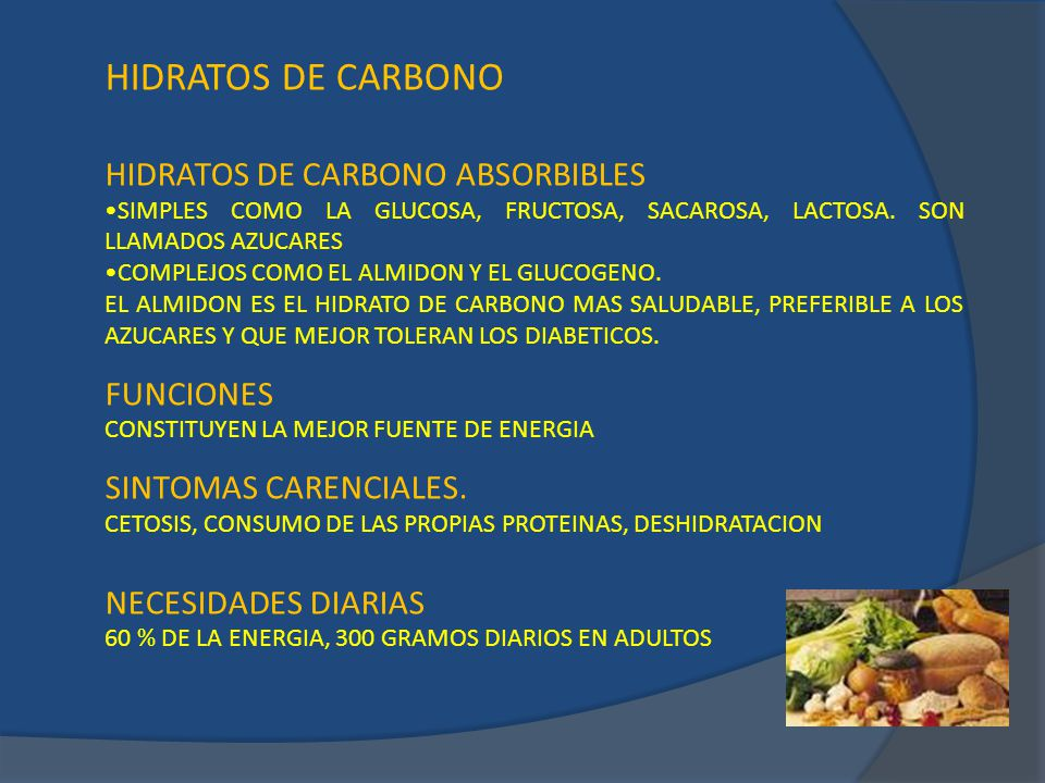 HIDRATOS DE CARBONO HIDRATOS DE CARBONO ABSORBIBLES FUNCIONES